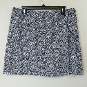 Wrap Style Tiny Floral Print Skort by First Issue